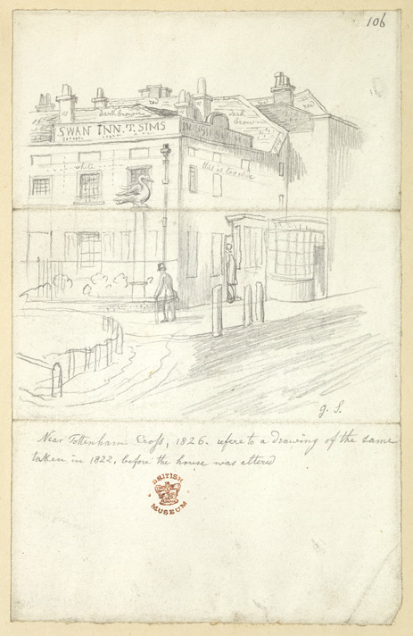 Near Tottenham Cross, London, 1826